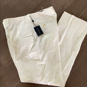 NWT Polo by Ralph Lauren white slacks 38 $165